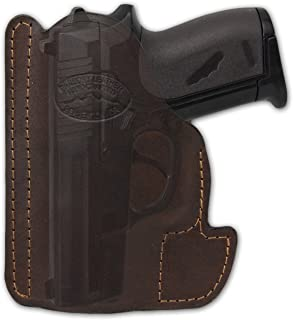 Barsony New Brown Leather Gun Concealment Pocket Holster for Small .22 .25 .380 Pistols