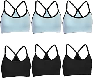 285dfc9c8c Fruit of the Loom (6 Pack Womens Underwear Wirefree Sports Bras for Women  Workout Clothes