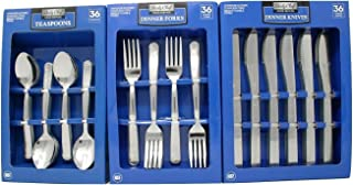Daily Chef Dinner Forks,Spoons, and Knives Flatware - 108 Pieces Windsor Pattern