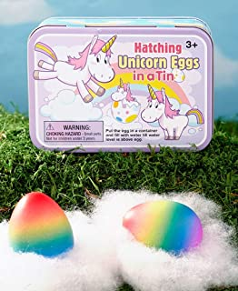 Hatch Unicorn Egg 2 Piece Unicorn Hatching Egg Kit in a Tin Eggs Surprise Toys for Kids Ages 3 and Up Children Gifts for Christmas Birthday Hanukkah (Unicorn Eggs)