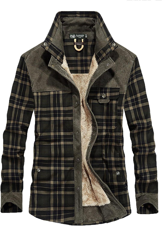 Men's Casual Button-Down Sale item Shirts Autumn famous and Lapel Po Winter Plaid