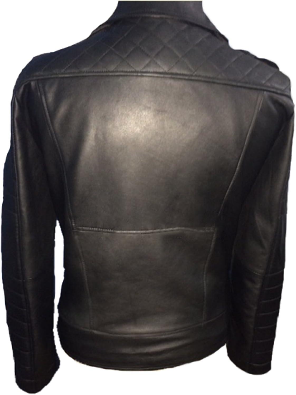 Laverapelle Men's Genuine Lambskin Leather Jacket (Black, Motorcycle Jacket) - 1501474