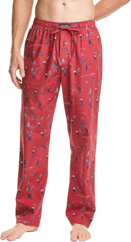 Polo Ralph Lauren Mens Woven Sleep Pajamas Pants Red Ski Large