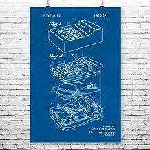 "$39 » Patent Earth Calculator Poster Print, Math Teacher Gift, Accountant CPA, Bookkeeper Gift, Engineering Student, Tech Geek Gifts Blueprint (24"" x 36"")"