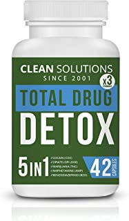 Clean Solutions THCDetox 5-in-ONE - Premium Cleanse & Toxins Remover - Natural Detox Pills - Liver, Urinary Tract & Kidney Detox Cleanse - Made in USA - 7-Day Detox