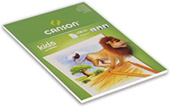 Canson Kids 5+ A4 90 GSM Drawing Paper Pad - White (Pack of 30 Sheets)