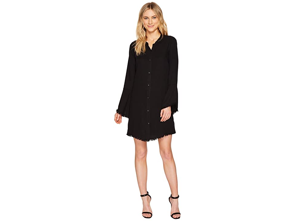 Splendid Crosshatch Knot Back Dress (Black) Women