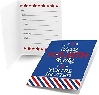 Big Dot of Happiness 4th of July - Fill-in Independence Day Party Invitations (8 Count)