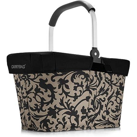 Reisenthel carrybag Baroque Taupe Henkel Einkaufskorb + Cover Abdeckung schwarz