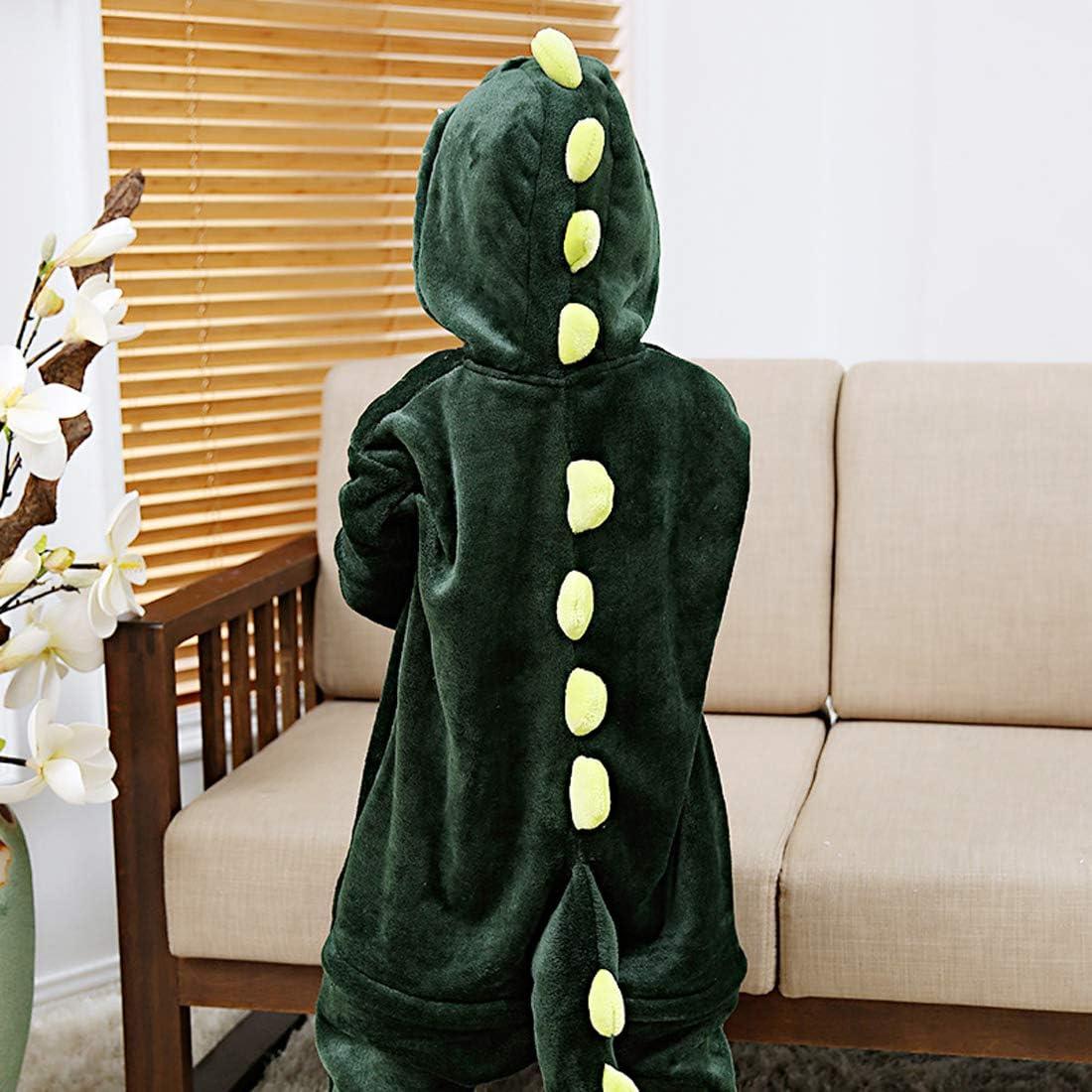 Irypulse Kinder Schlafanzug Flanell Onesie Pyjamas Kinder Cosplay Kost/üme Jungen M/ädchen Tier Outfit