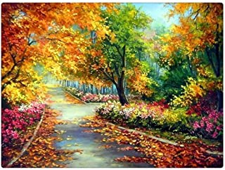 Diamond Painting Kits for Adults Embroidery Landscape Paintings Pictures Arts Craft for Home Wall Decor Autumn Tree 15.7x1...