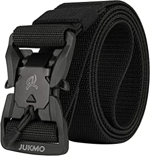 JUKMO Tactical Belt, Military Style 1.5'' Nylon Webbing Belt with Magnetic Quick-Release Buckle