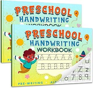 Handwriting Workbooks for Kindergarten Preschool- Alphabet & Number Tracing Learning Writing Paper with Lines, Kindergarten Preschool Workbook for Age 2 3 4 5 Year Old Kids, Homeschool Supplies