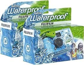 Fujifilm یکبار مصرف QuickSnap ضد آب استخر زیر آب 35mm دوربین، بسته 2