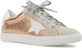 RF ROOM OF FASHION Women's Casual Low Top Trendy Flatform Platform Fashion Sneakers