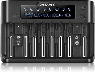 Batteriladdare batteriladdare universal 10 fack batterier snabbladdare laddare LCD-display för 18650, 9v, Li-ion, AA, AAA,...