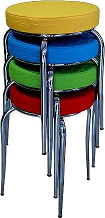 Tabure, Mutfak Sandalyesi, Sandalye 4 Adet Fiyatıdır. (mor)