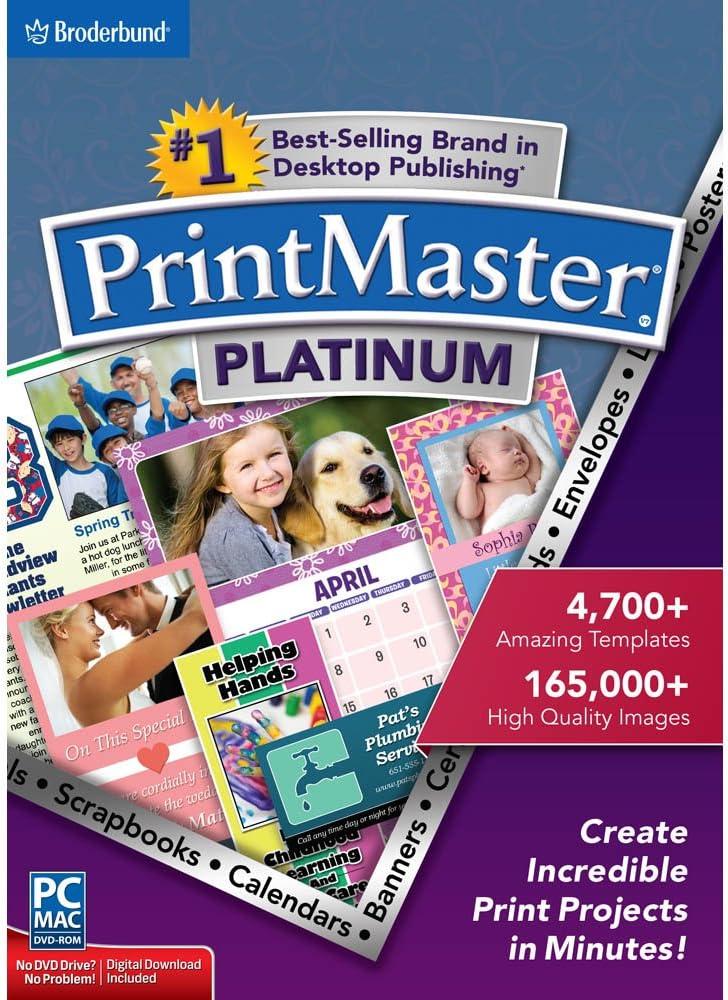 Encore PrintMaster v7 unisex Platinum Outlet SALE 7.0