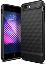 Caseology Parallax for Apple iPhone 8 Plus Case (2017) / for iPhone 7 Plus Case (2016) - Award Winning Design - Matte Black