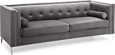 Amazon.com: Brown Leather Sofa 118