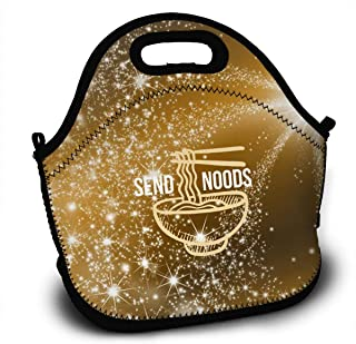 7125be3300fad Send Noods Ramen Noodles Lunch Bag Tote Lunchbox With Handle Strap