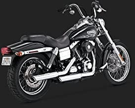 Vance & Hines 16837 3 Round Twin Slash Slip-On Mufflers For Harley Dyna