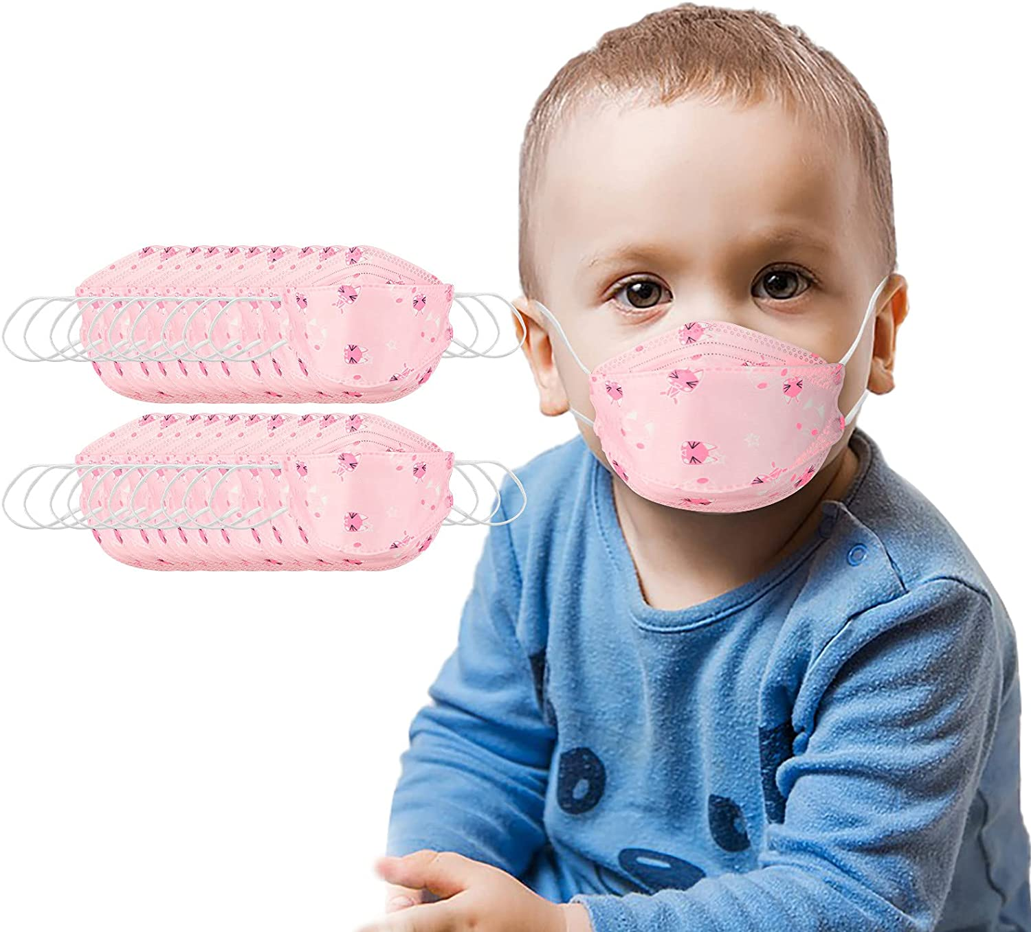 Disposable Face Masks for Same day shipping kids Ranking TOP2 Anti-Haze Layer Fac Fish-Shaped 5