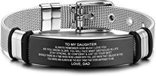 Inspirational Cuff Bracelets Personalized Engraved Gifts to My Son, to My Daughter Husband Wife Bracelet