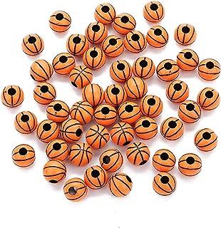R STAR 100 Pcs Basketball Beads 12mm Sports Pony Beads
