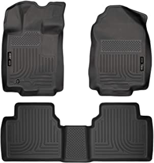 Husky Liners 98361 Fits 2006 Lincoln Zephyr, 2010-12 Ford Fusion, 2010-12 Lincoln MKZ, 2010-11 Mercury Milan - Front Wheel Drive Weatherbeater Front & 2nd Seat Floor Mats , Black