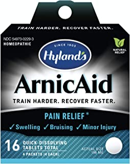 Hyland's ArnicAid Athlete Pain Relief From Injury Quick-Dissolving Tablets, 16 ea
