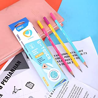 Deli EU53100 Graphite Colour Barrel Pencil, 2B (12 Piece)