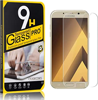 9H Screen Protector Compatible with Galaxy A3 2017, CUSKING Tempered Glass Screen Protector for Samsung Galaxy A3 2017, Anti Scratch, High Transparency, 4 Pack