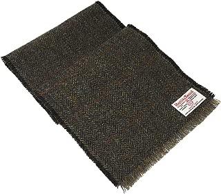 Brown Herringbone Design Wool Scarf