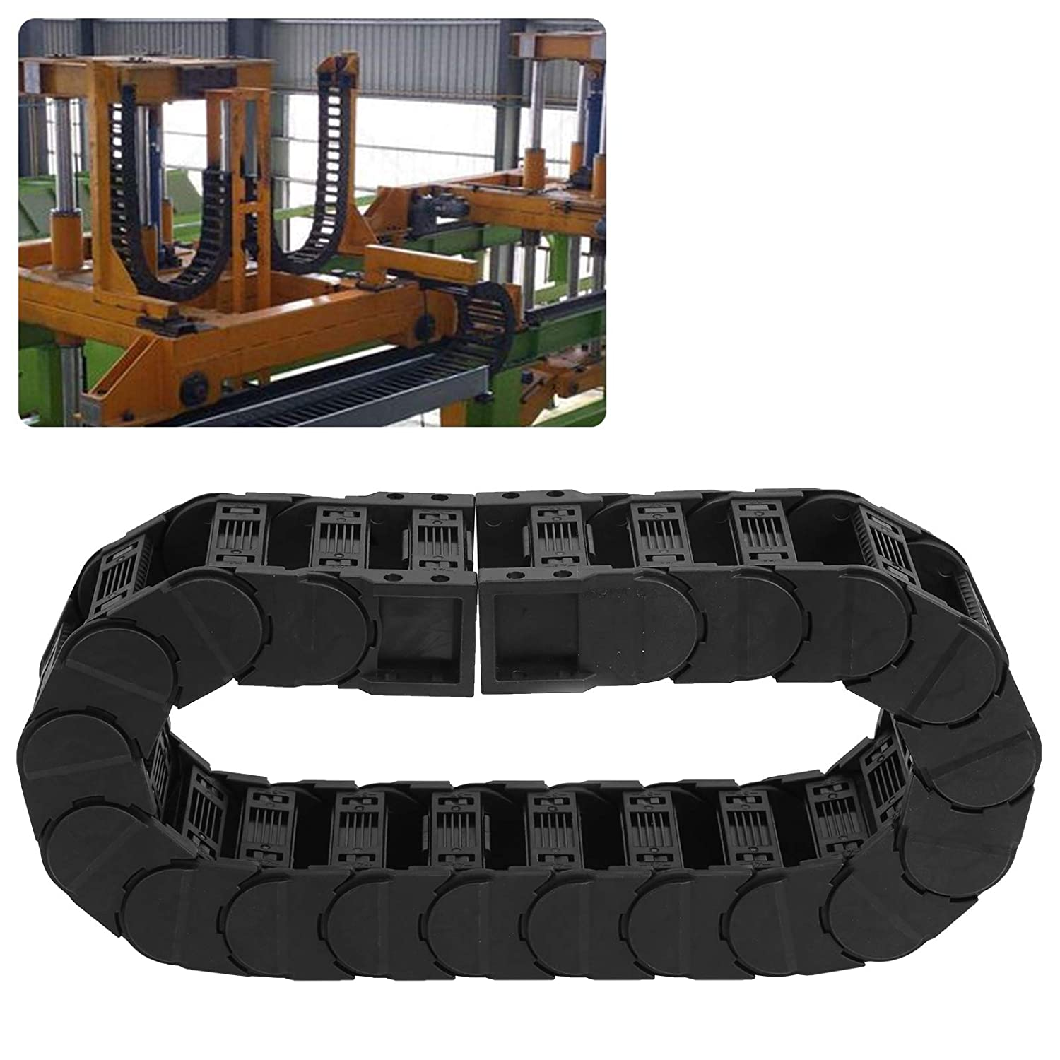 Cable Chain, Drag Chain Kid Proof Glossy with Low Noise for Engi