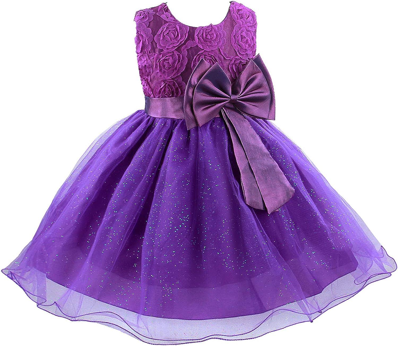 Acecharming Little Our shop OFFers the best service Girls Tutu 3D Popular brand Rose G Flower Dress Toddler for