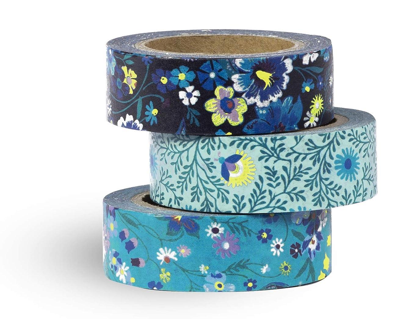 Vera Bradley Decorative Paper Tape Set of 3, Moonlight Garden