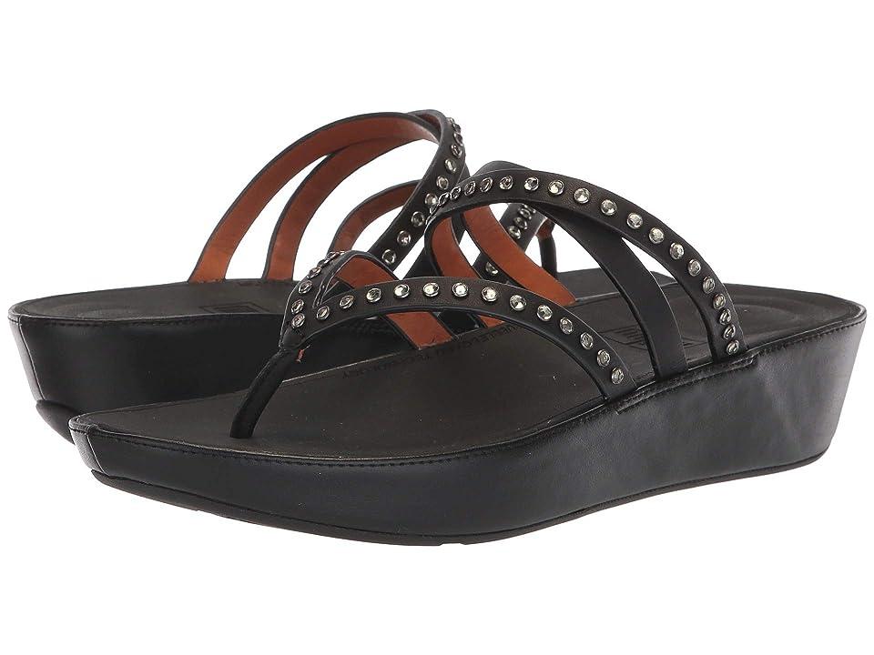 FitFlop Linnytm Crisscross Toe-Thong Sandals Crystal (Black) Women