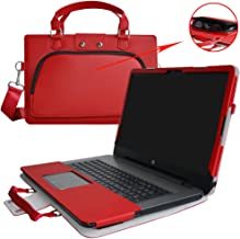 HP Notebook 15 Case,2 in 1 Accurately Designed Protective PU Leather Cover + Portable Carrying Bag for 15.6