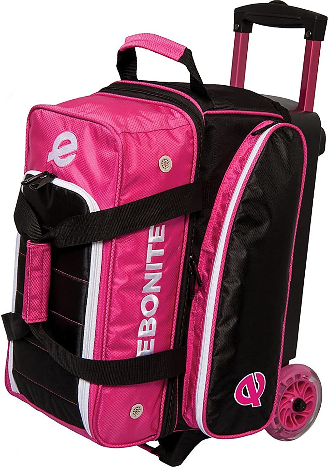 (Pink)  Ebonite Eclipse Double Roller Bowling Bag
