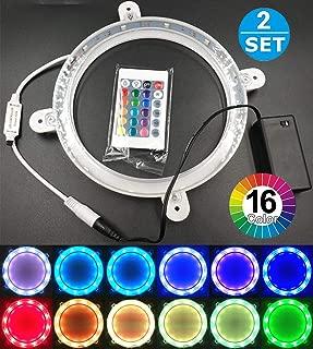 Cornhole Lights Set of 2, Multicolor Changing Remote Control 6