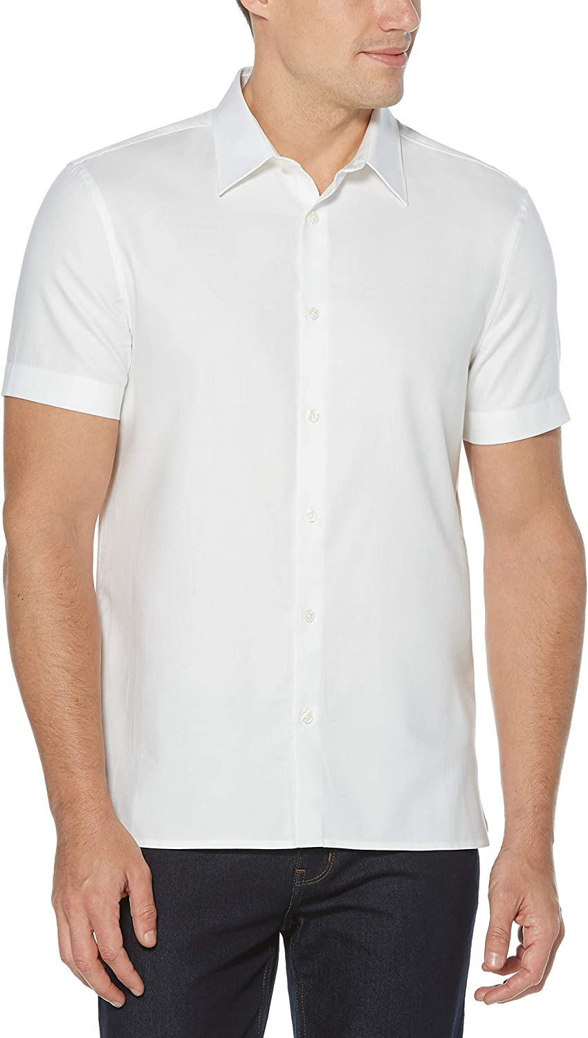 Perry Al sold out. Ellis New color Men's Textured Shirt Solid