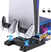 FYOUNG Estação de carregamento para ventilador de refrigeração PS5 para edição digital PS5/console Ultra HD e controles du...