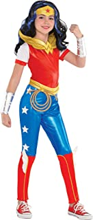 DC Super Hero Girls Wonder Woman Jumpsuit Costume for Girls, Includes Jumpsuit and a Headpiece
