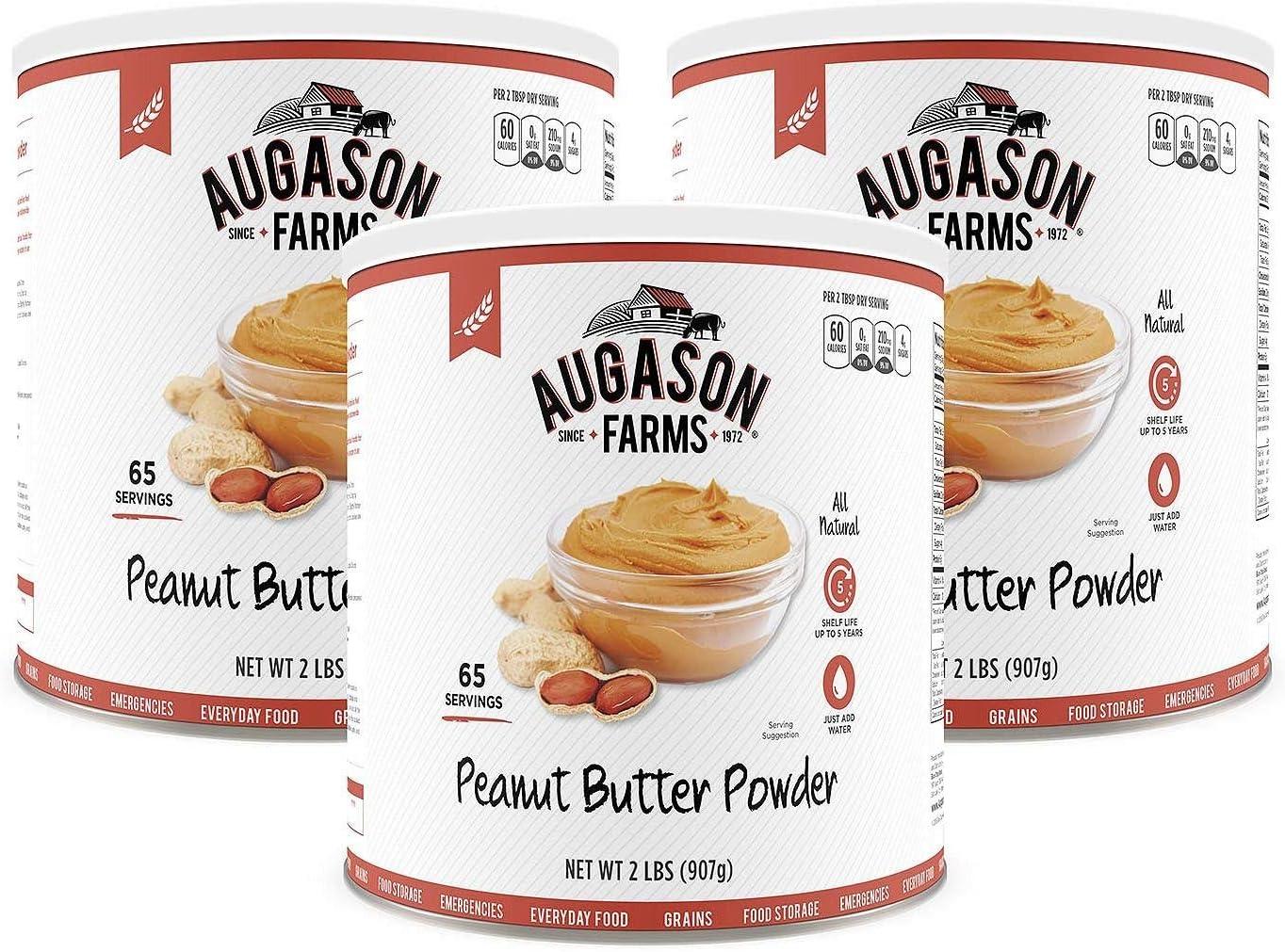 Augason Fees free Farms Dehydrated Peanut Butter Powder 100% quality warranty! can pk. #10 3