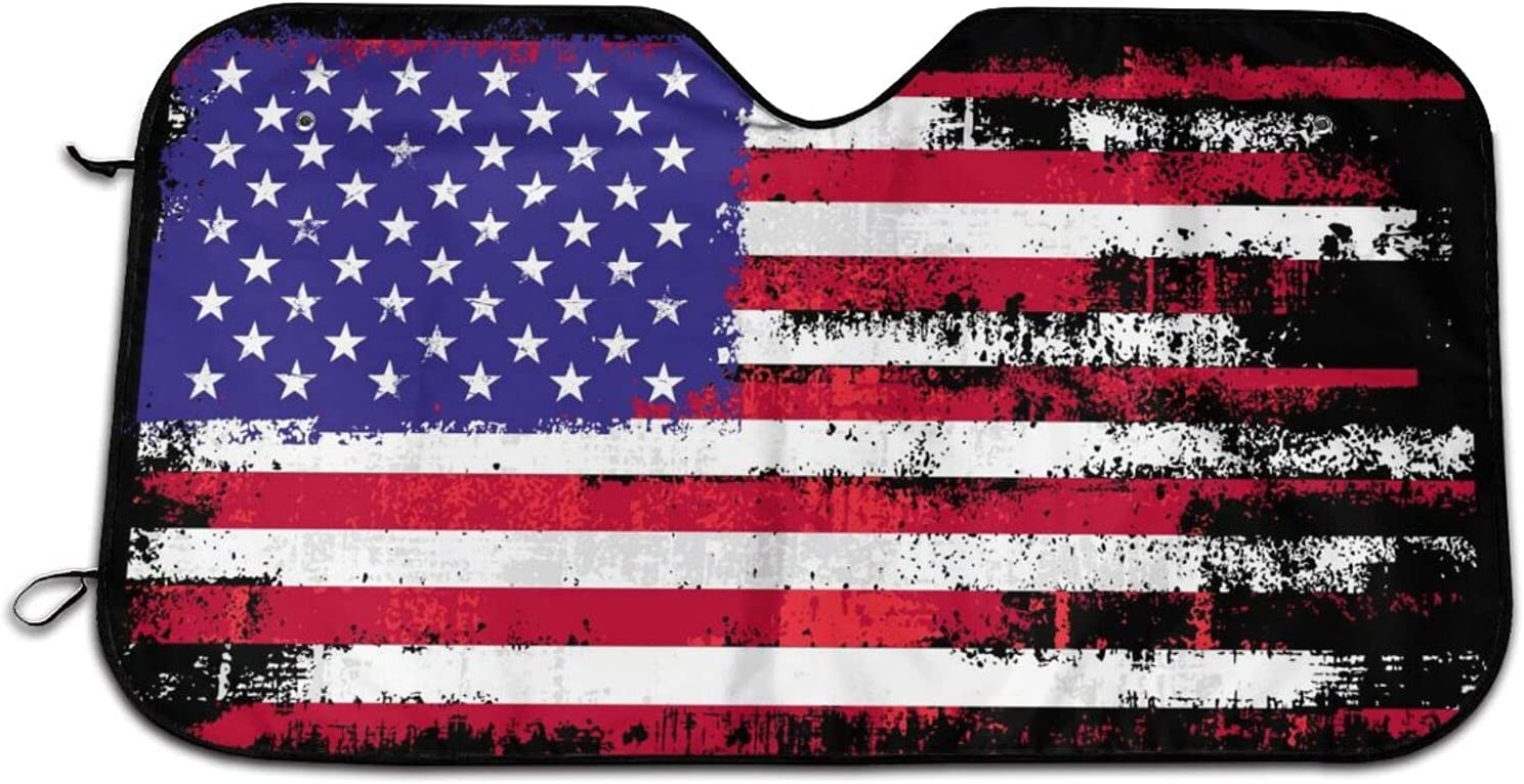 American Flag Car Windshield Challenge the lowest price of Japan Curtains Sun Blocks Max 49% OFF Shade Rays Uv