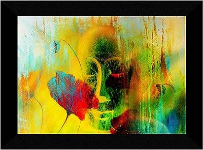 SAF Buddha modern art Multi-Effect UV Textured Home Decorative Gift Item Framed Painting 10 Inch X 13 Inch SANFK30914