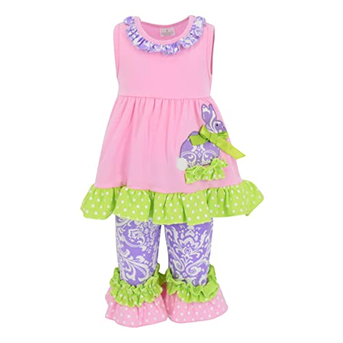 593965ba2 Unique Baby Girls Damask Easter Bunny Easter Outfit