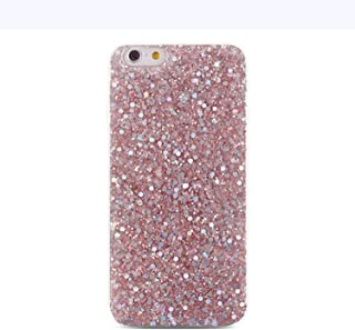 Silicone Bling Glitter Crystal Sequins Phone Case for Huawei P Smart P20 Pro P10 P8 P9 Lite 2017 Nova 2 2S 2i Honor 8 9 10 Cases,Pink,for Huawei V10