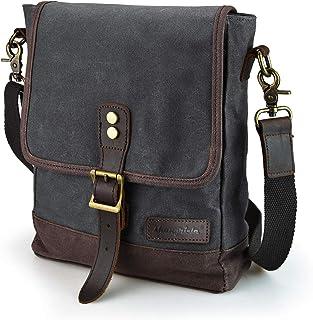 SHANGRI-LA Kleine Messenger-Tasche für Männer und Frauen, gewachstes Leinen, wasserfest, Umhängetasche, Umhängetasche, für Reisen